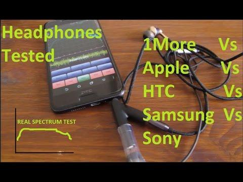 Sonic Spectrum Earphones Test -  1More vs Apple vs HTC vs Samsung and Sony DMR7506