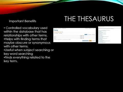 The Online Thesaurus
