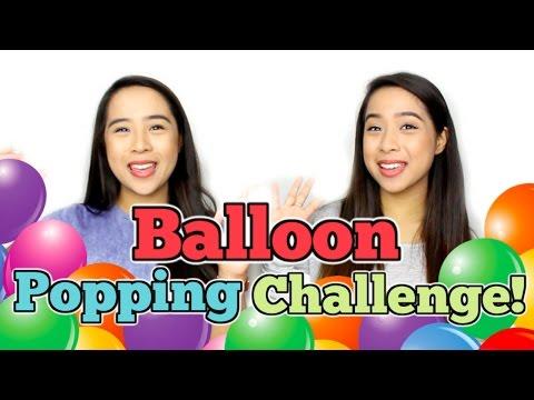 Balloon Popping Challenge! | Samantha and Madeleine