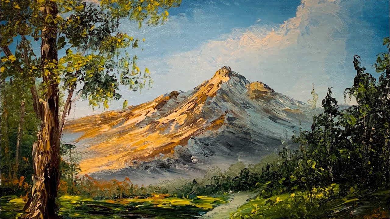 How To Paint With Your Hands   Landscape Oil Painting