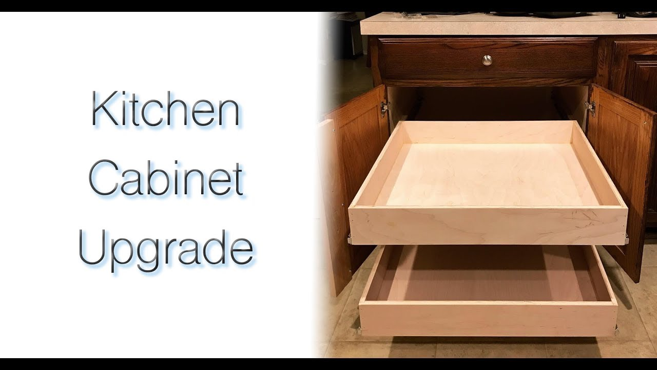 Diy Kitchen Cabinet Upgrade With Full Extension Pull Out Drawers