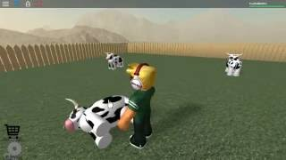 The normal elevator game play/Roblox//cow flipin