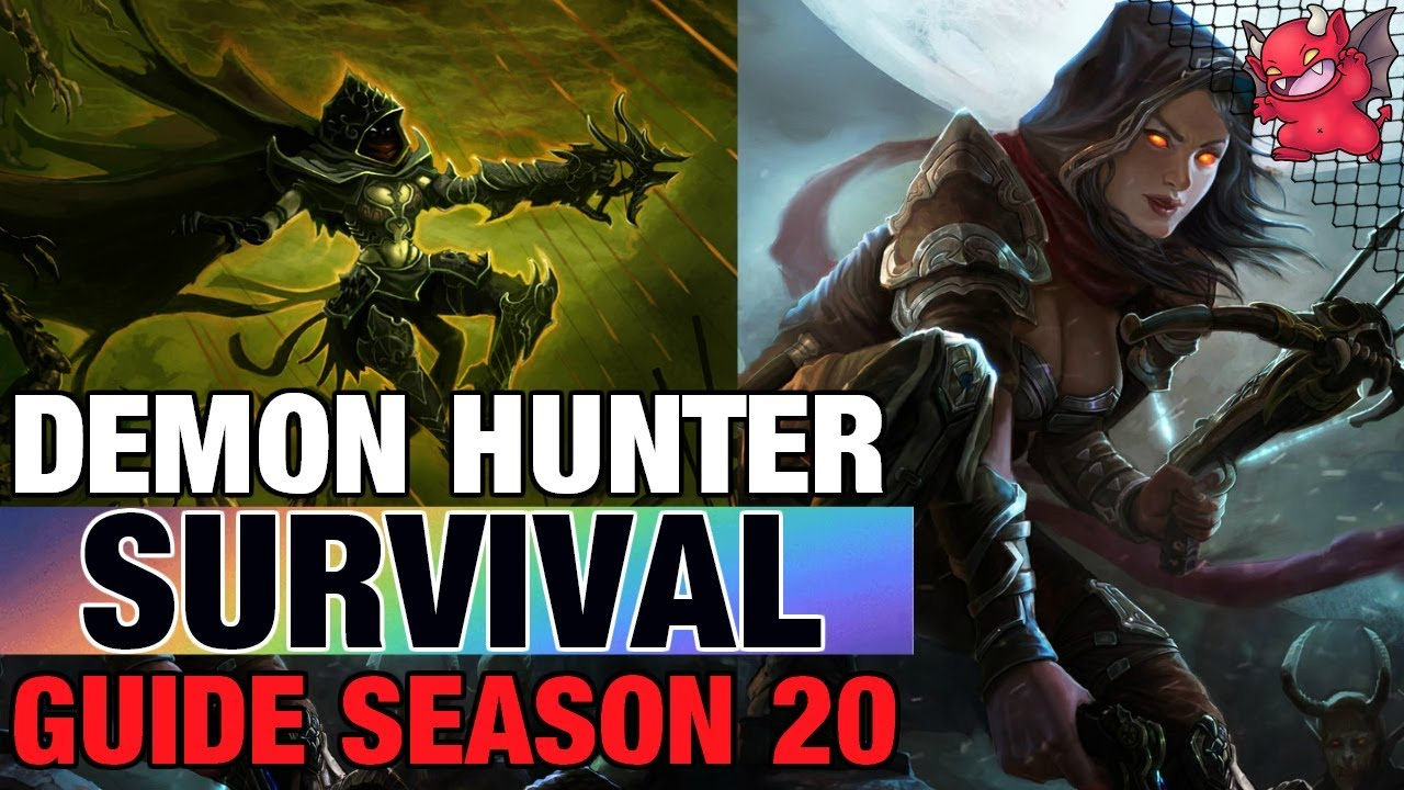 Season 20 Demon Hunter Starter Survival Build Guide Patch 2 6 8 Youtube