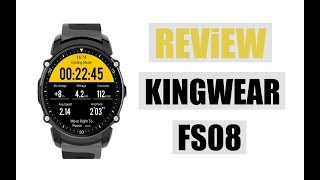 KINGWEAR FS08 Bluetooth Smart Watch | Waterproof IP68 Swim | GPS Sports Fitnes Tracker