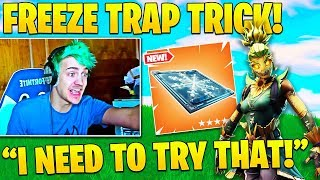 Streamers *SMART* Wins Using Chiller Freeze Traps! Ninja Tricks FaZe Cloak!