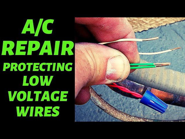 Install Repair On A Central Air Conditioner - Protecting the Low Voltage Wires to the AC