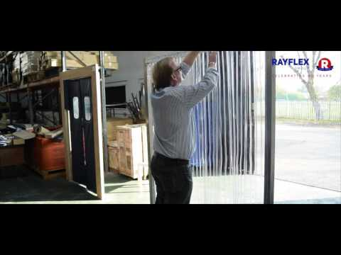 Installation Bullet Type Fixing for PVC Curtains - Rayflex G