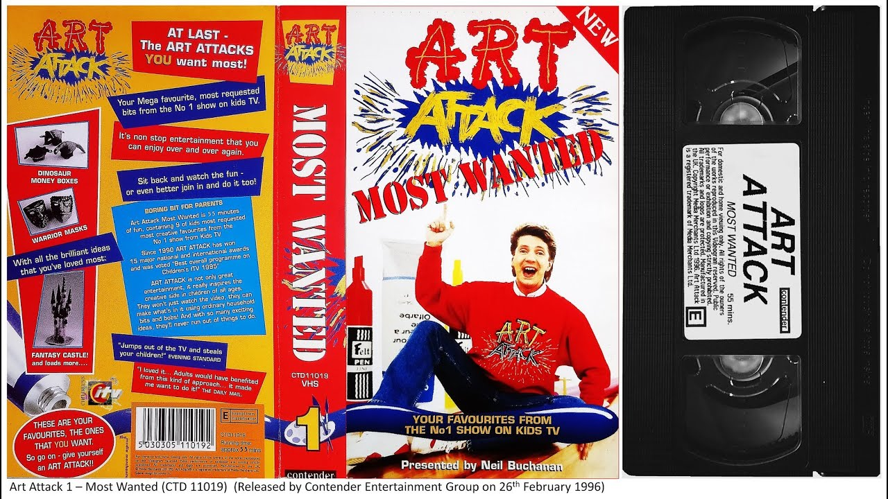 art attack most wanted vhs 1996 youtube. Black Bedroom Furniture Sets. Home Design Ideas
