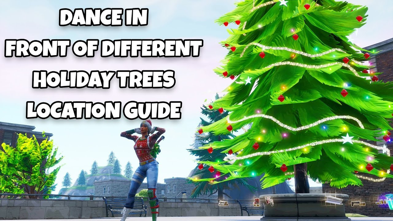 Fortnite Dance In Front Of Different Holiday Trees Locations 14