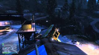 Grand Theft Auto V Giant Dump Truck Wheelie