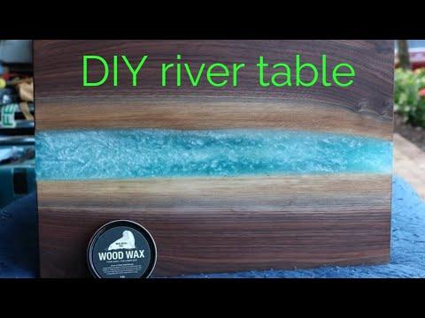 DIY Black Walnut epoxy resin river table