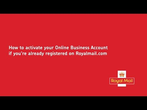 How to activate your Online Business Account if you're already registered on royalmail.com