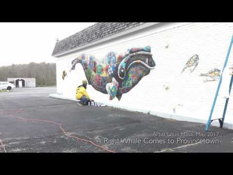 Right Whale Mural by Louis Masai, Harbor Hotel Provincetown, May 2017