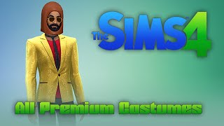 Sims 4 Premium / Deluxe Edition ALL COSTUMES! All wearbles, clothes, and hats!