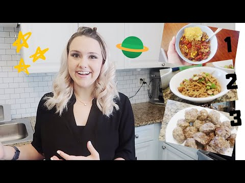 EASY DAIRY AND GLUTEN FREE MEAL IDEAS || CROCK-POT CHILI, THIA PEANUT NOODLES, MEATBALLS