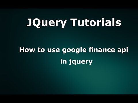How to use google finance api in jquery - YouTube