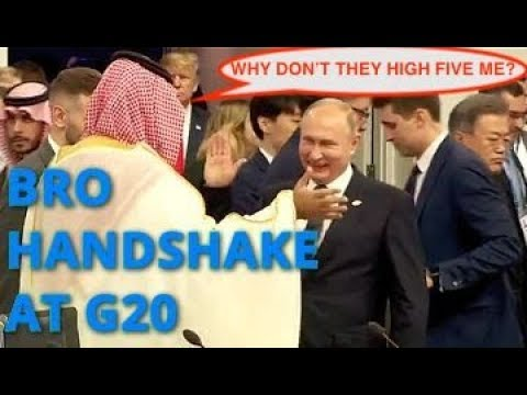 BREAKING! Putin And Trump Don't Greet Each Other; Putin High Fives Saudi Crown Prince MBS At G20