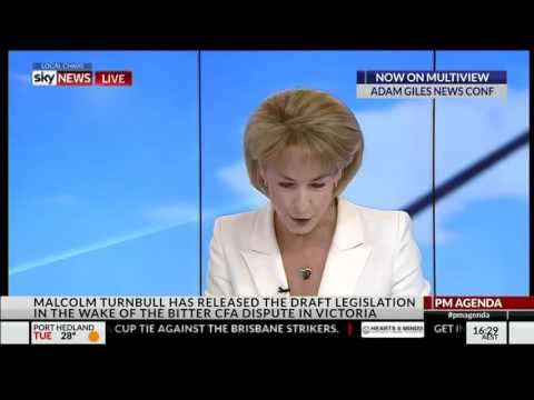 Trainwreck interview on CFA legislation with Employment Minister Michaelia Cash
