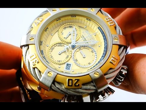 Invicta Bolt 21366 Gold Chronograph Men's Wrist Watch