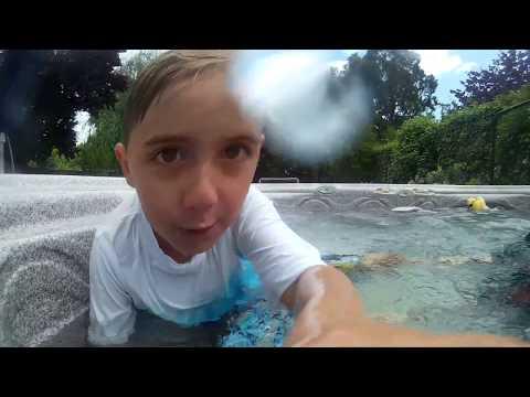 Tsunami in my hot tub!