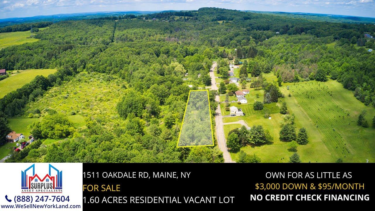 1511 Oakdale Rd, Maine, New York - New York Land For Sale - www.WeSellNewYorkLand.com