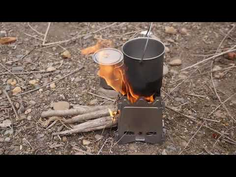 Ultralight Titanium Wood Burner Camping Stove