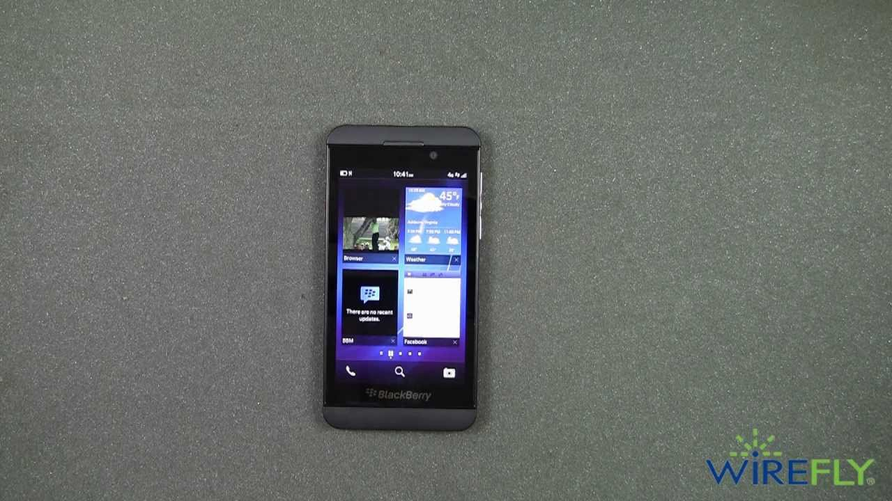 BlackBerry Z10 for T-Mobile Quick Look by Wirefly - YouTube