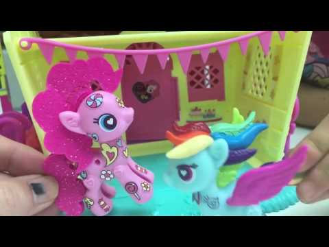 My Little Pony Pinkie Pie's Dance Party Decorations With Rainbow Dash HMP Shorts Ep  17 Toys Video