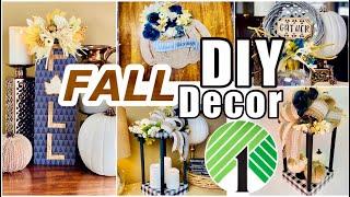 FALL DIY DECOR // NEUTRAL RUSTIC GLAM MODERN FARMHOUSE DOLLAR TREE CRAFTS
