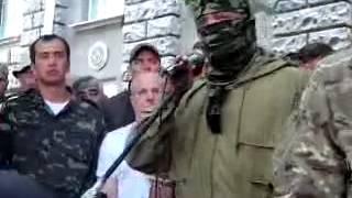 Речь Семена Семенченко возле администрации президента.