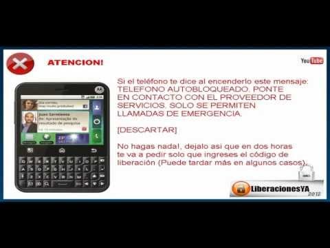 Liberar Motorola MB502 Charm en www.LiberacionesYA.com