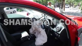 Երևանում Subaru ի ռուս վարորդը «կտրել» է Audi ի ճանապարհը, վերջինը բախվել է պատին