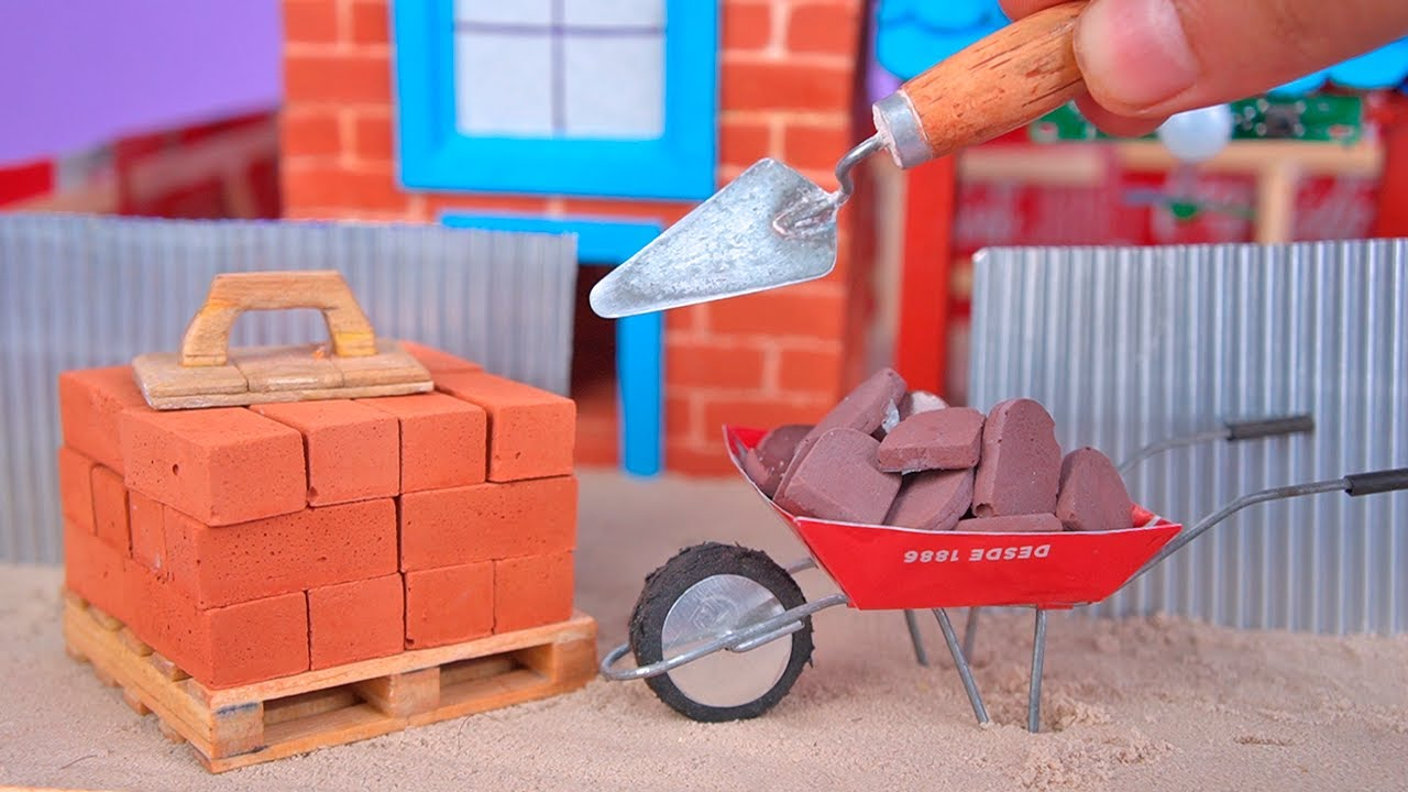 Amazing MINI CONSTRUCTION MATERIALS for Mini Bricks