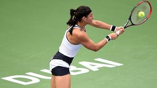 2017 Dubai Duty Free Tennis Championships First Round | Caroline Garcia vs Larsson | WTA Highlights