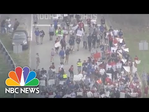 Florida Students Stage Walkout From High School   NBC News