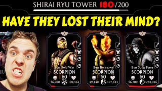 MK Mobile. Battle 180 in Fatal Shirai Ryu Tower is IMPOSSIBLE! The Hardest Boss Battle of ALL TIME!