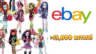 Massive Monster High collection bought to sell on eBay! Over 200 dolls!