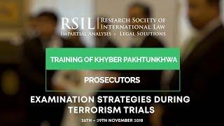 Training on Examination Strategies during Terrorism Trials for KP Prosecutors