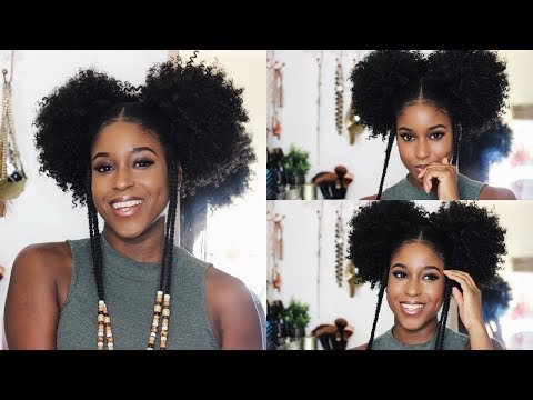 Issa Tutorial: How to Drawstring Fro Pigtails with Side Braids