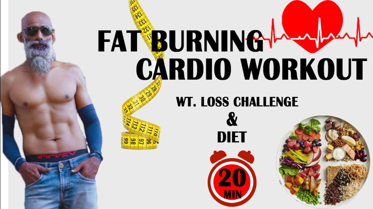 20 MIN Cardio  Fat burning Workout at Home No Equipment Wt.loss / Diet