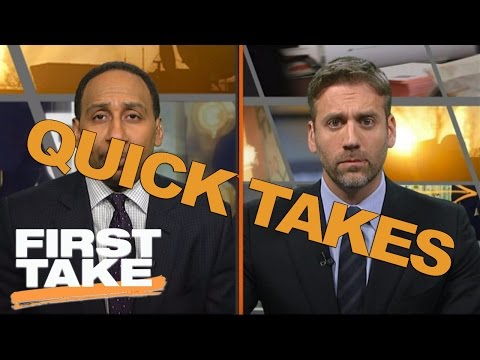 Quick Takes On Andrew Luck, Chris Bosh And NBA Playoffs | First Take | April 18, 2017