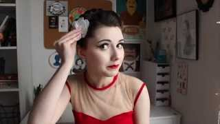 Esther Williams inspired hair (featuring Unique Vintage)