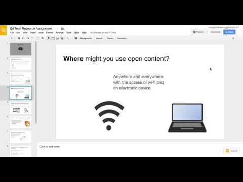 Open Content video