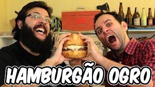 Hamburgão ogro ft. CAUÊ MOURA 🔵Manual do Mundo - receita para o DIA DOS PAIS