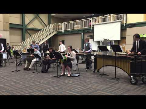 "Andrew playing xylophone & 2 mallet marimba in ""African Sun Walk"" ensemble"