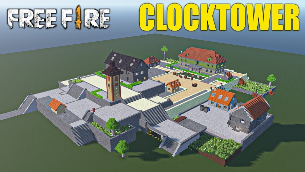 3 DAYS BUILDING CLOCKTOWER IN MINECRAFT BY MR JUNIOR & @GRGxd | FREEFIRE