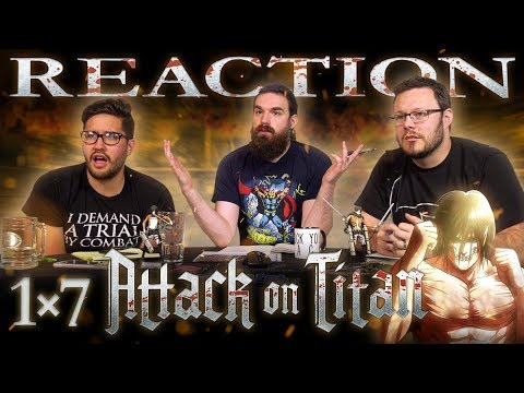 Attack on Titan 1x7 REACTION!! Small Blade: The Struggle for Trost, Part 3