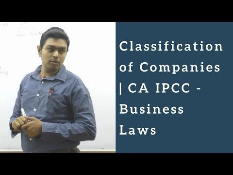 Classification of Companies | CA IPCC - Business Laws
