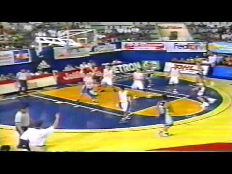 Manila Metrostars vs Pampanga Dragons 1999 MBA Playoffs quar