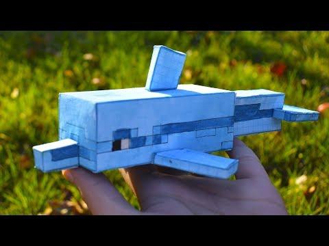 КАК СДЕЛАТЬ ДЕЛЬФИНА ИЗ МАЙНКРАФТ БЕЗ ПРИНТЕРА #minecraft #DIY #майнкрафт
